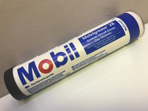 Mobil, 28 Hi Performance Synthetic Grease, 13.7 oz. Cartridge, Mil Spec w/ Certs