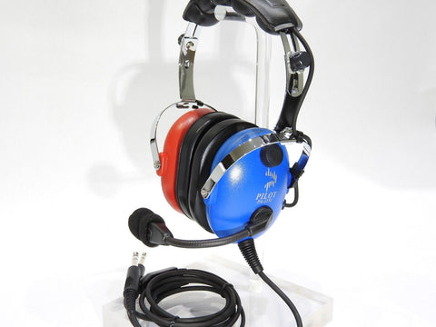 Pilot-USA, Blue & Red, Child or Youth G/A Headset p/n PA-1151ACB