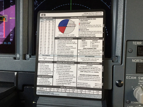 Back Seat Pilot, VFR & IFR Quick Reference Card, (Cockpit Training Aid)