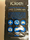 iCloth, Large (38 sq in) Avionics Cleaning Wipes, Pack of 10,  AMS, BMS Approved