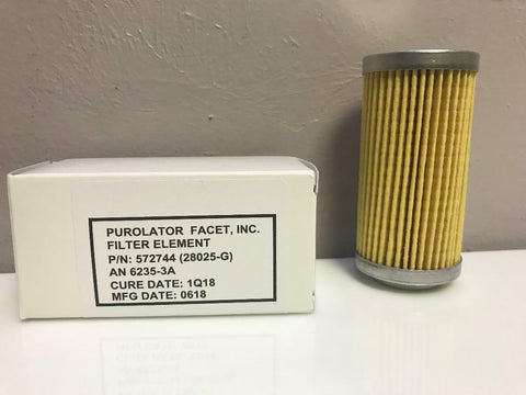 Purolator, Fluid Filter Elements, w/ Certs., p/n AN6235-1A, -2A, -3A & KD651511, (Cessna, Piper, Beech) Etc
