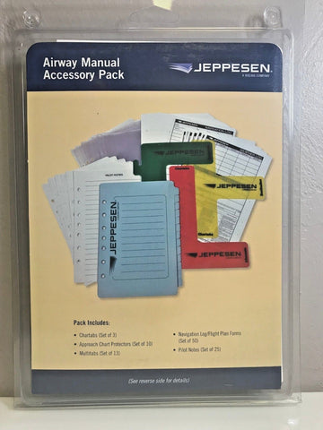 Jeppesen, Professional Airway Manual Accessory Pack, Tabs, Notes, etc., p/n 10011316
