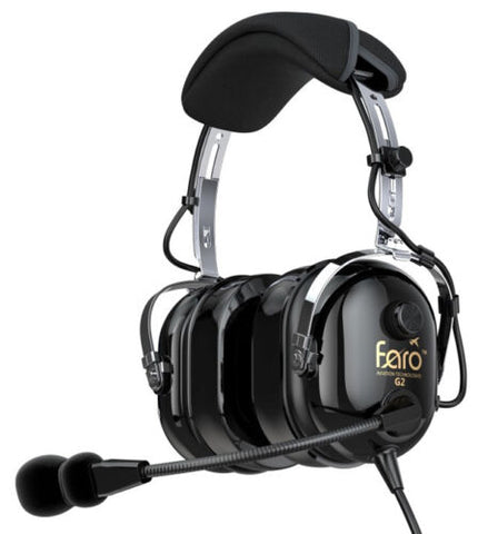 Faro Aviation, G2 Passive Noise Reduction (PNR) Headset w/ Dual G/A Connectors, w/ MP3 Input