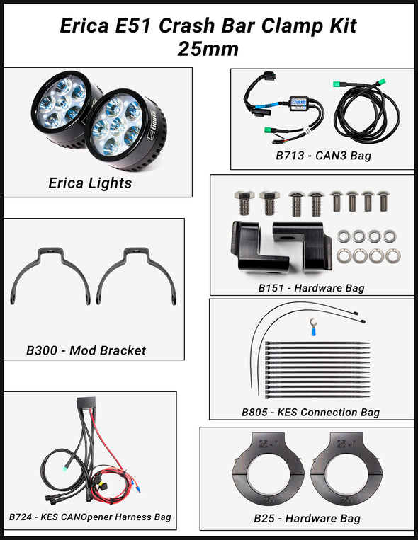 "Erica (BMW R1250GSAW ""water-cooled"") LED Lights"