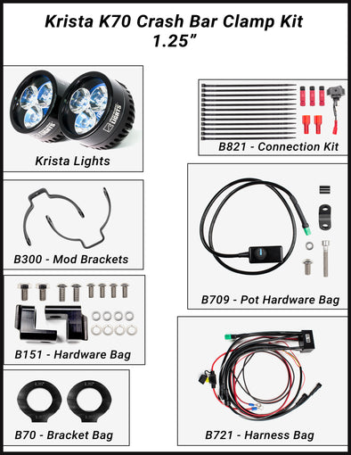 clearwater lights led motorcycle lights and off road vehiclekrista universal led light kit