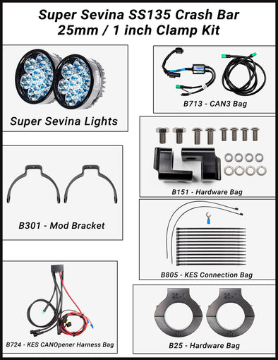 Super Sevina (BMW F750GS) LED Lights