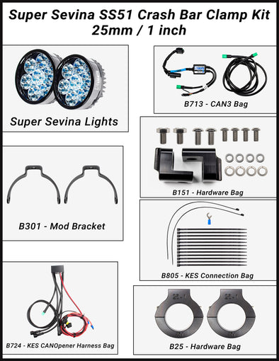 "Super Sevina (BMW R1250GSW ""water-cooled"") LED Lights"