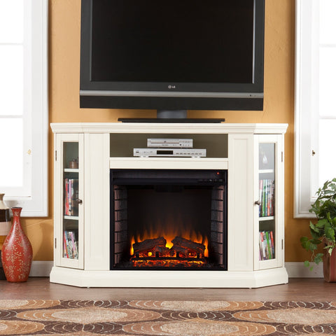 New And Modern Entertainment Centers With Electric Fireplaces