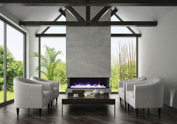 Amantii Panorama TRU-VIEW – 3 Sided Electric Fireplace