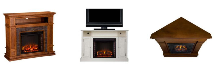 Venless Electric Fireplaces, media console firepalces