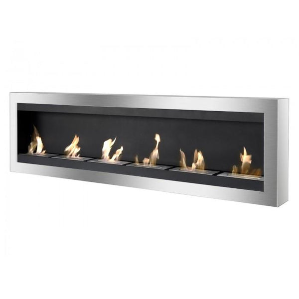 Maximum Bio Ethanol Wall Mount Recessed Fireplace