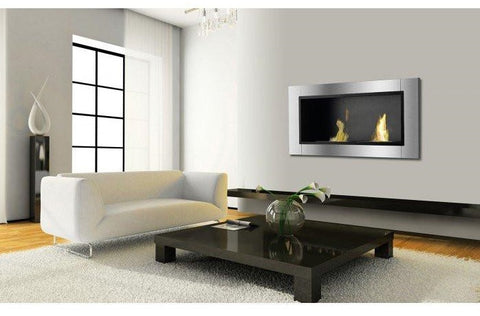 Lata Bio Ethanol Wall Mount or Recessed Fireplace