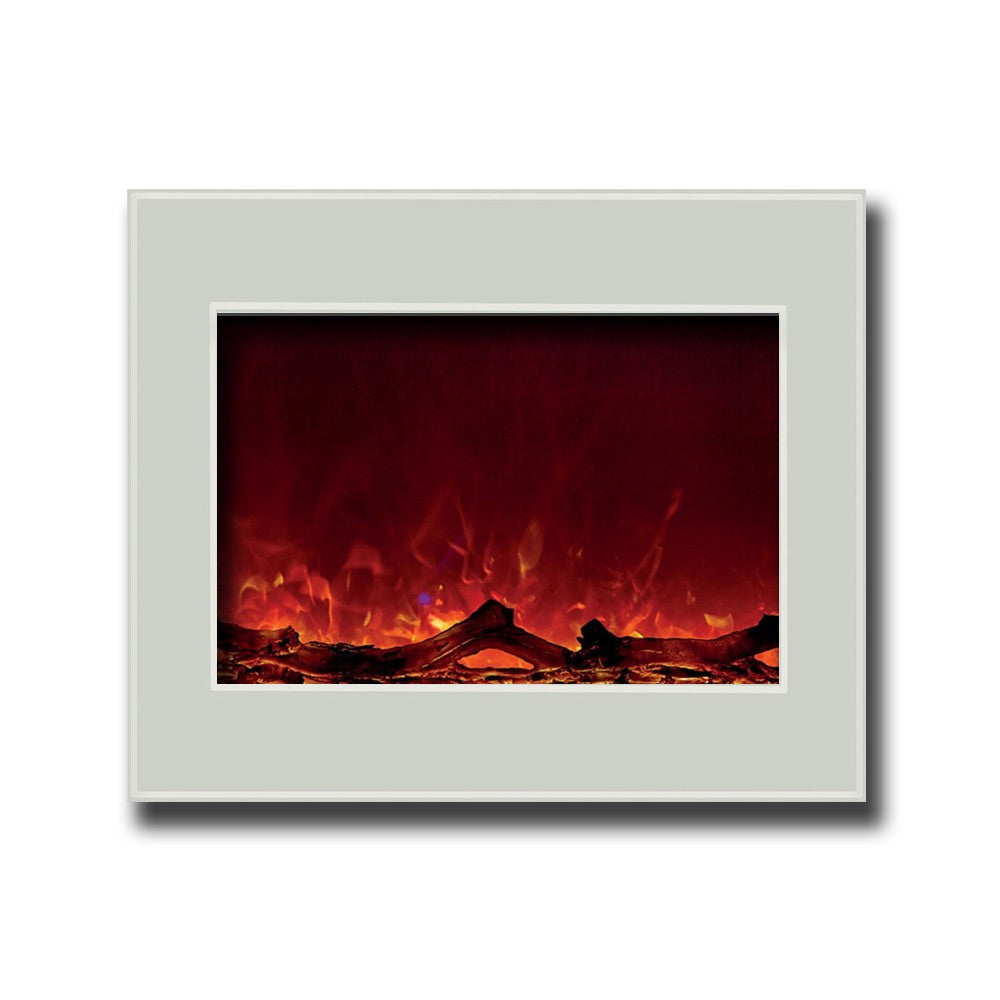 amantii fire ice zero clearance 39 electric fireplace with white rh ventlessfireplacepros com