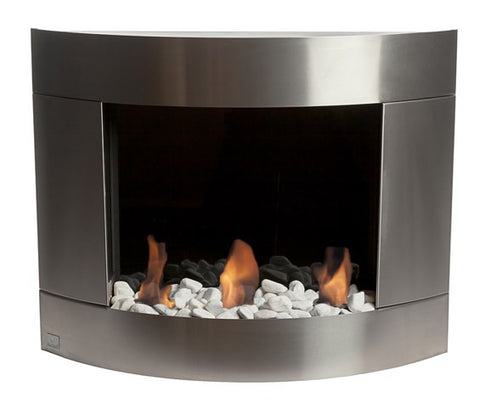 Bio Blaze Diamond 1 Biofuel Wall Fireplace - Ethanol Fireplaces - Ventless Fireplace Pros