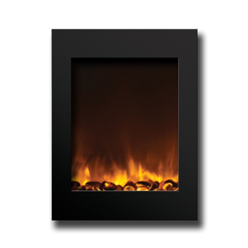 Free Shipping and No Sales Tax on the Amantii Zero Clearance Vertical Electric Wall Fireplace on Ventless Fireplace Pros.