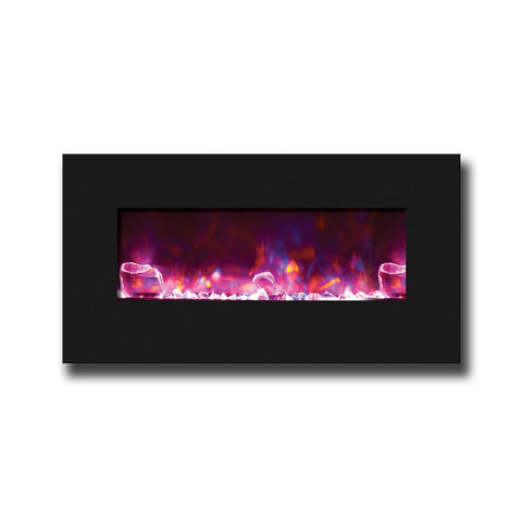 "Amantii 34"" Fire & Ice Series Wall-Mount