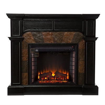 Cartwright Convertible Electric Fireplace - Ebony