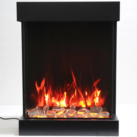 Amantii 2939-Tru-View-XL 3 Sided Electric Fireplace - Ventless Fireplace Pros