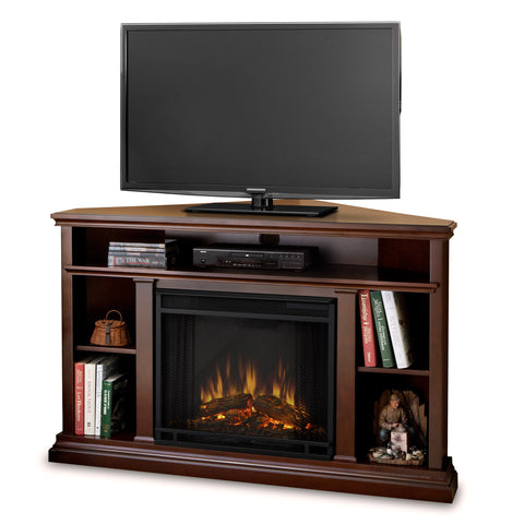Churchill Corner Electric Fireplace - Dark Espresso - Ventless Fireplace Pros
