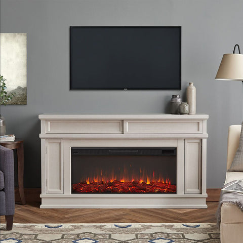 Torrey Electric Fireplace in Bone White Finish - Ventless Fireplace Pros