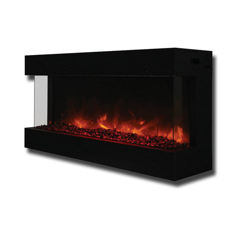 "Amantii Panorama 50"" TRU-VIEW – 3 Sided Electric Fireplace - Ventless Fireplace Pros"