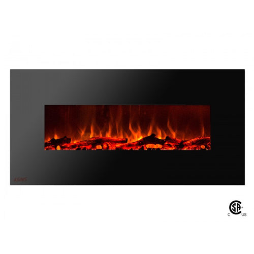 50 royal wall mount electric fireplace with logs ventless rh ventlessfireplacepros com ventless wall fireplace gas wall hung ventless gas fireplace
