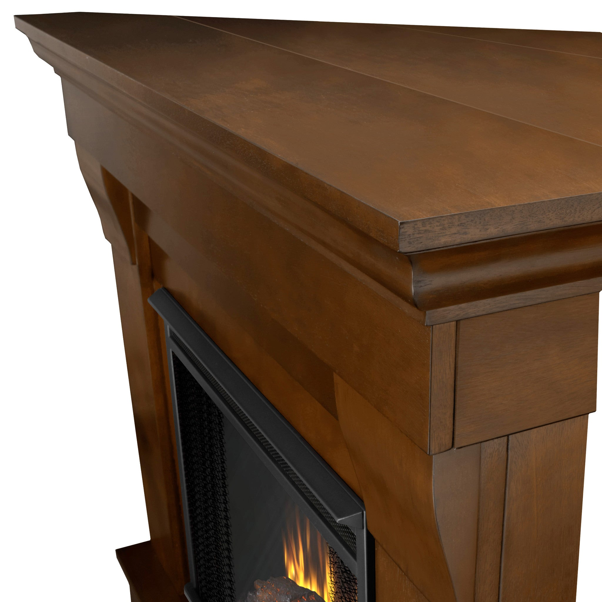 Real Flame Espresso Chateau Corner Electric Fireplace Ventless Fireplace Pros