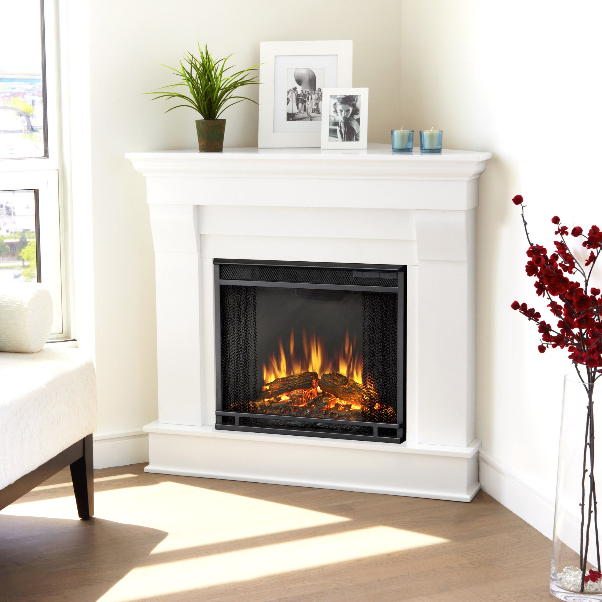 electric white corner fireplace me positivemind stylish tittle
