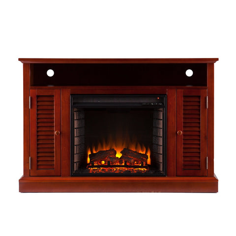 Antebellum Media Fireplace - Classic Mahogany