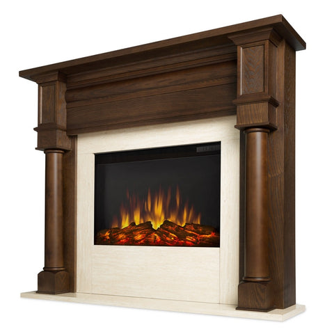Berkeley Electric Fireplace - Chestnut Oak - Ventless Fireplace Pros