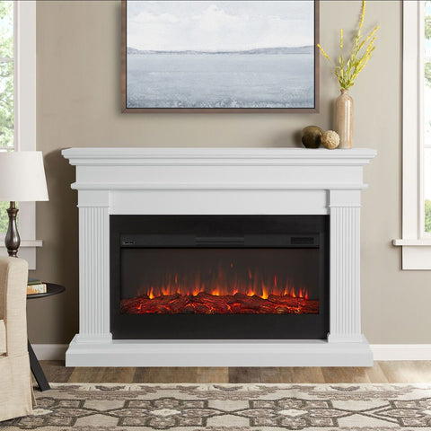 Beau Electric Fireplace in White Finish - Ventless Fireplace Pros