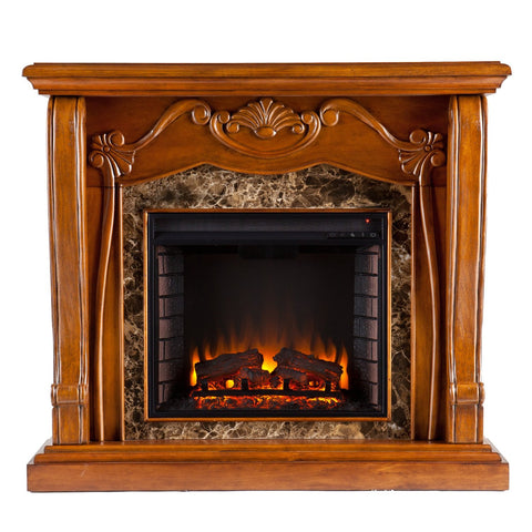 Cardona Electric Fireplace - Walnut