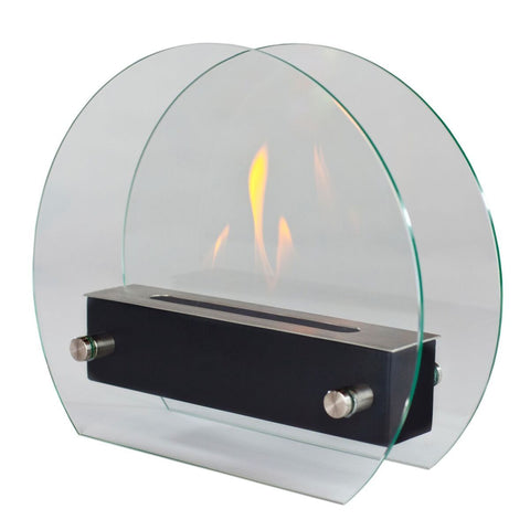 Cerchio Irradia Freestanding Ethanol Fireplace - Ventless Fireplace Pros