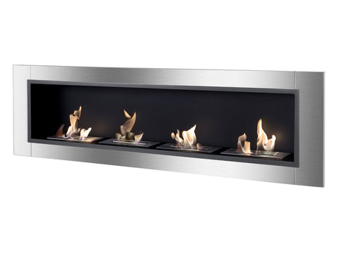 Accalia Wall Mounted / Recessed Ventless Ethanol Fireplace - Ventless Fireplace Pros