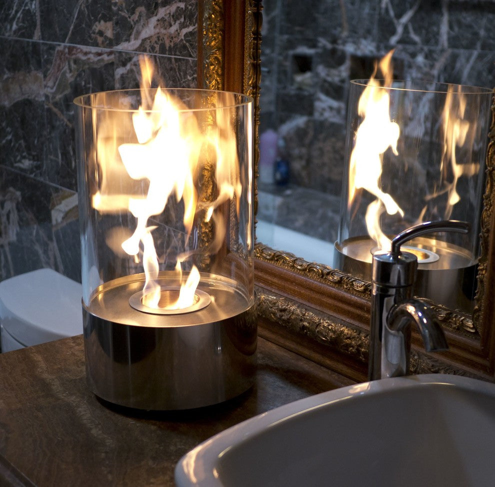 ... Nu Flame Accenda Cylinder Tabletop Fireplace   Ventless Fireplace Pros  ...