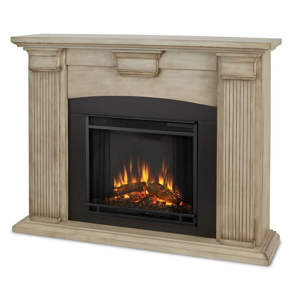 ... Adelaide Electric Fireplace in Whitewash - Ventless Fireplace Pros ... - Adelaide Electric Fireplace €� Ventless Fireplace Pros