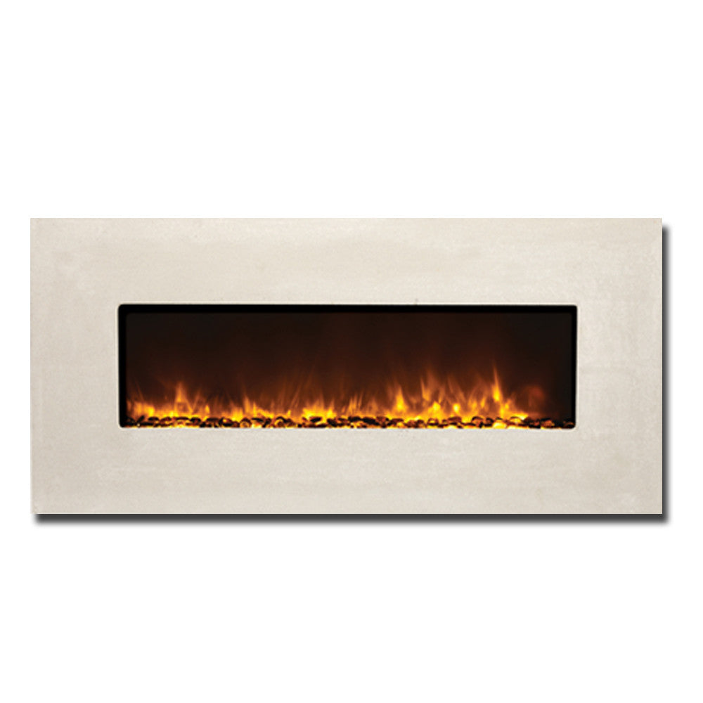 Amantii Built-In Moderno Electric Fireplace With Tuscan Cream ...