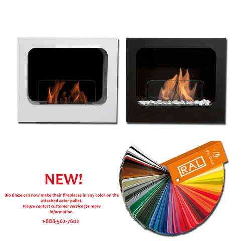 Bio-Blaze Columbus Wall Mount Bio Ethanol Fireplace - Ethanol Fireplaces - - Ventless Fireplace Pros