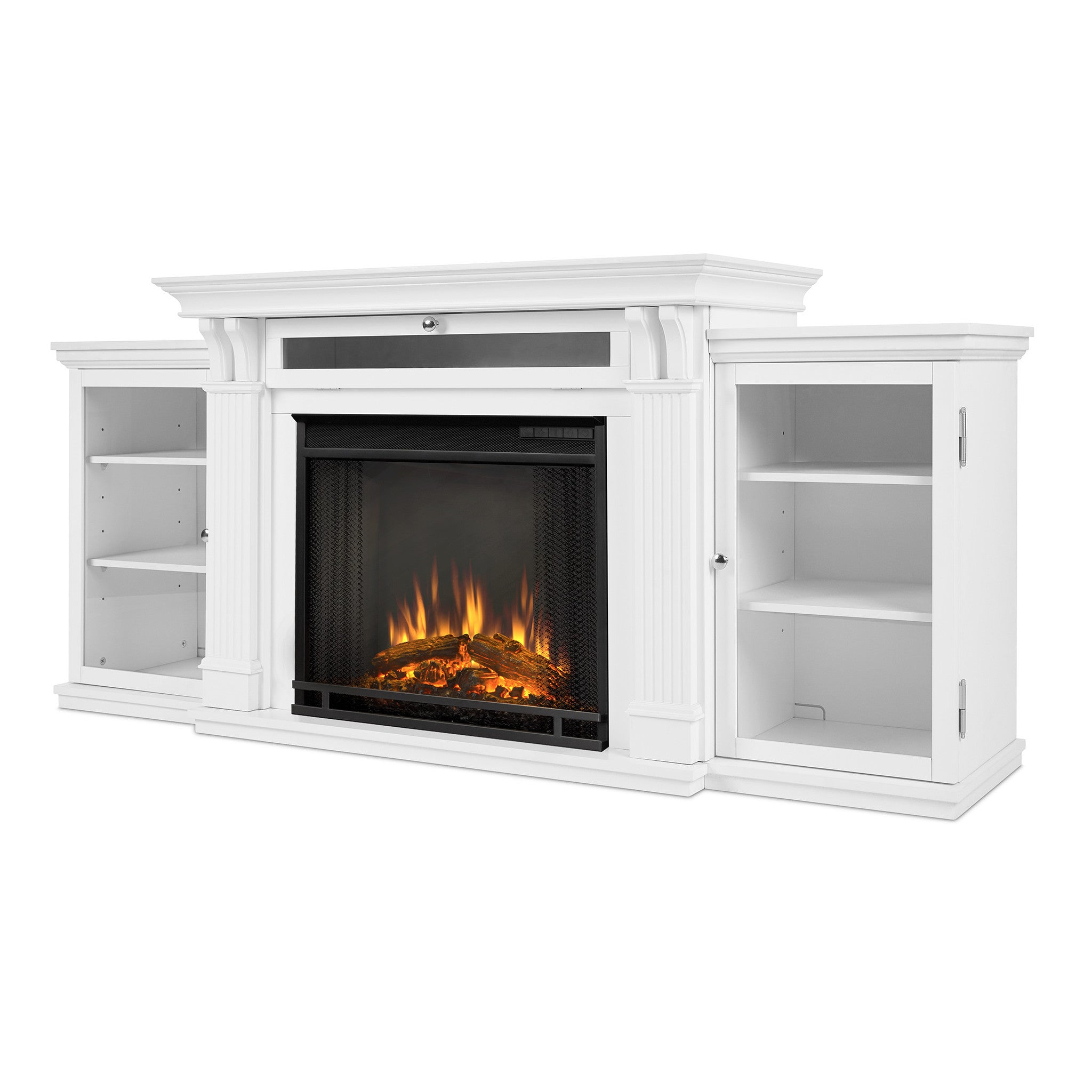 brickell antique with center in classic fireplace entertainment electric flame white l