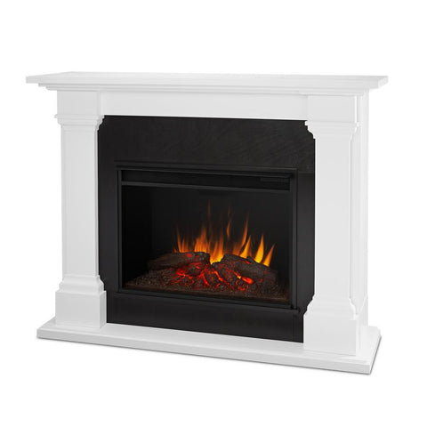 Callaway Grand Electric Fireplace in White - Ventless Fireplace Pros