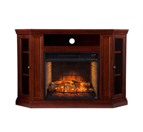 Claremont Convertible Media Infrared Fireplace - Cherry