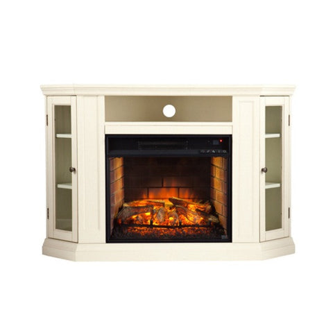 Claremont Convertible Media Infrared Fireplace - Ivory