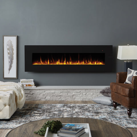 "Corretto 72"" Electric Fireplace - Ventless Fireplace Pros"