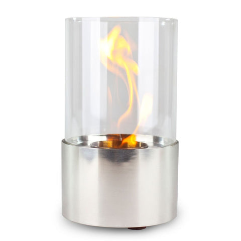 Piccolo Stainless Accenda Table Top Fireplace - Ventless Fireplace Pros