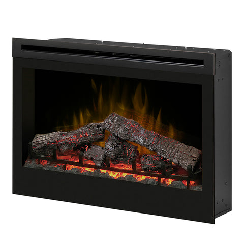 "Dimplex 33"" Self-trimming Electric Firebox with Log Set - Ventless Fireplace Pros"