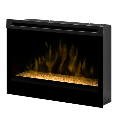 "Dimplex 33"" Self-trimming Electric Firebox with Glass Ember Bed - Ventless Fireplace Pros"