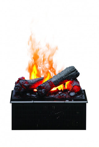 Dimplex Opti-Myst Cassette with Faux Logs and Heat Receptacle Electric Fireplace Insert