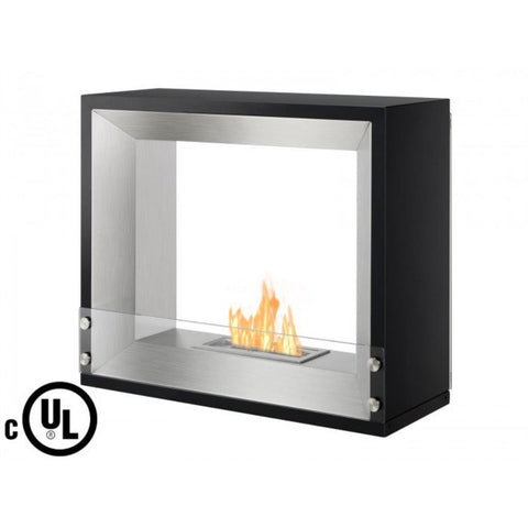 Mecca Freestanding Ventless Ethanol Fireplace - Ventless Fireplace Pros
