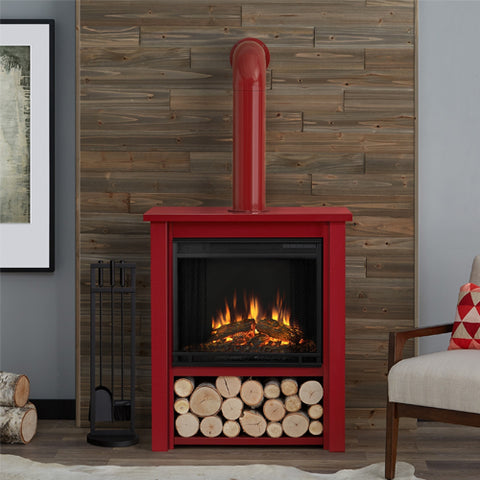 Electric fireplaces electric indoor fireplaces tagged 50100 hollis electric fireplace in red finish ventless fireplace pros teraionfo