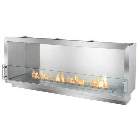 "Ignis 64.25"" Wide One-Sided Ethanol Burning Firebox - Ventless Fireplace Pros"